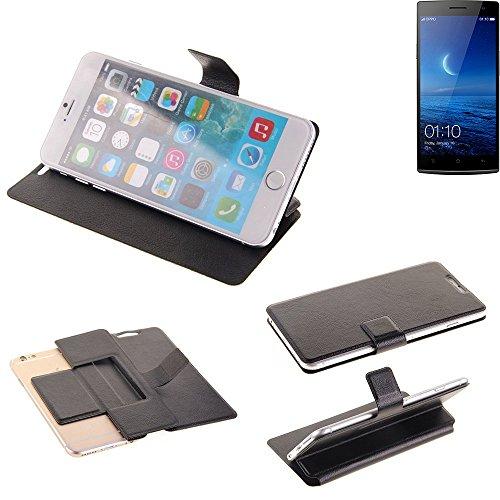 K-S-Trade Schutz Hülle für Oppo Find 7 Schutzhülle Flip Cover Handy Wallet Case Slim Handyhülle bookstyle schwarz