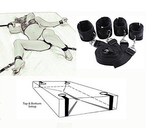 Juego de sujeción de esgrima de cama con puños de tobillo para parejas
