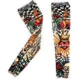 RAPID Driving UV Sun Protection Tattoo Arm Sleeves For Dust And Pollution Protection Set Of 2 (Design As Per Availability)