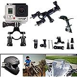 SAVFY® Support de guidon de vélo/moto/tige de selle + pivot bras réglable à trois voies pour GoPro HERO 1 2 3 3+ 4