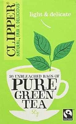 Clipper Commerce Équitable Thé Vert Pur 26 Sachets 50 g