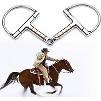 Plat Firm 5in BT0401 de Acero Inoxidable D Ring Horse Snaffle bit bit de Anillo Suelto Horse Equipment