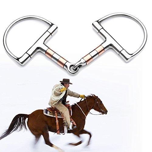 HANO 5in BT0401 Edelstahl D-Ring Pferd Gebiss Loser Ring Bit Pferd -