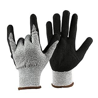 perfk 1 Paar Arbeitshandschuhe Lederhandschuh hitzefest Schutzhandschuhe für alle Zwecke wie Elektro- und Handwerkzeuge, Gartenarbeit u.s.w 10 mm x 250 mm