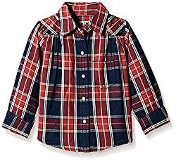 Gini & Jony Baby Girls' Blouse (112032269192 1120_Red_18-24 Months)
