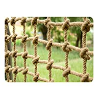 Child Safety Rail Net for Stairs, Hemp Child Railing Safety Net Railing Fence Mesh Protection Net Durable Weatherproof Kindergarten Decoration Net Stairs Shatter-resistant Net Hand-Woven Mesh Outdoor