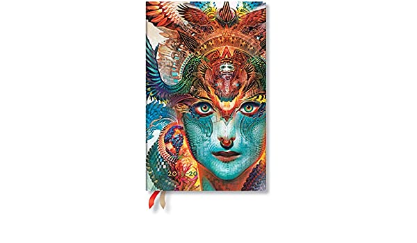 Paperblanks Agenda scolaire flexible 18 mois 2019-2020 Dharma Dragon Maxi Semainier