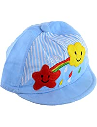 Shop frenzy Blue Teddy Summer Colourful Kid/Baby/Infant Cap for 0-9 Months
