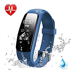 Activity Tracker, Lintelek Fitness Tracker Watch With Heart Rate Monitor, Touch Screen Waterproof Smart Watch, Stopwatch, Connected Running Gps, Bluetooth Pedometer For Android & Ios Smartphone