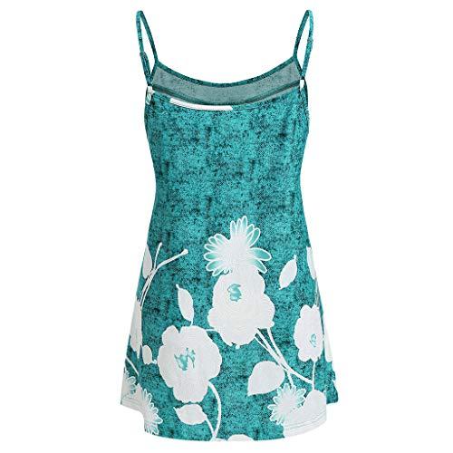 Frauen Daisy (BfmyxgsXL-XXXXXL Damen Plus Size Ärmelloses Leibchen mit Blumenmuster Ärmelloses Kleid für Frauen Daisy Print Oversize Shirt)