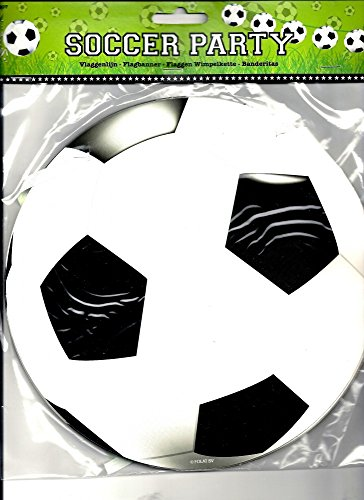 Wimpelkette Fussball 10mtr (Fußball-fan-decke)