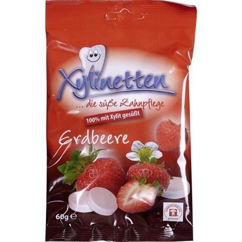 Xylinetten Erdbeere, 60 g (Erdbeer-bonbons)