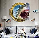 3D- Selbstklebende Abnehmbaren Durchbrechen Die Mauer Vinyl Wandsticker / Wandgemälde Kunst Aufkleber Dekorateur (Shark Mouth (60 x 90cm))