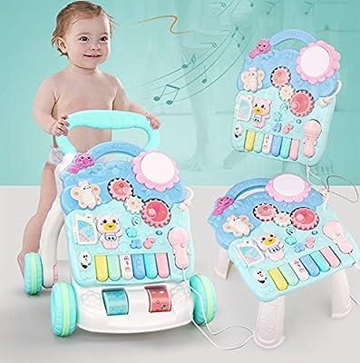 Lauflernwagen Gehhilfe Babys 6-7-18 Monate Walker Zu Rollover-Musik Zu Verhindern Multifunktions 1 Jahr Alt Baby Spielzeug