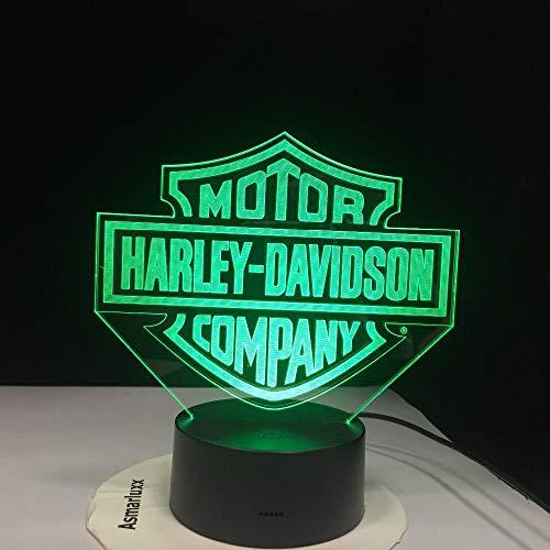 Zcmzcm 3D Nachtlichter Motor Company 3D Led Neuheit Tischlampe Motocross Form Nachtlichter Led Usb 7 Farben Ändern Beleuchtung - Kabel Motor Company