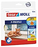 tesa UK P-Profile Draught Excluder for Doors and Windows, 10 m x 9 mm - White Bild 1