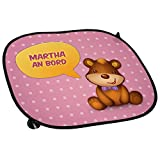 Auto-Sonnenschutz mit Namen Martha und schönem Teddybär-Motiv für Mädchen -