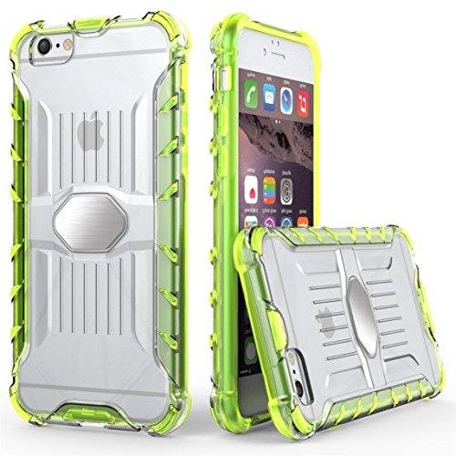 iPhone 6/6S 4.7 Hülle, Voguecase Transparent Schutzhülle / Case / Cover / Hülle / 2 in 1 TPU + PC für magnetischen Auto Mount Gel Skin für Apple iPhone 6/6S 4.7 (Pink)+ Gratis Universal Eingabestift Grün