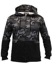 Camouflage Homme Sweatshirts Soul Star Haut À Capuche Militaire Polaire Doublée Hiver