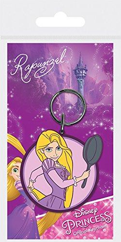 l Disney Princess Rapunzel Gummi Schlüsselanhänger, Mehrfarbig, 4,5x 6cm (Rapunzel-zeichen)