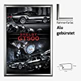 Kunstdruck Poster - Ford Mustang Shelby GT 500 V8 Muscle
