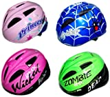 Coyote Kids Bike Helmet in Choice of Princess, Spider, Wicked and Zombie Style.