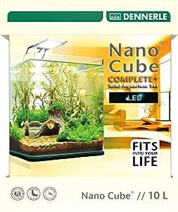 """dennerle Nanocube Complete Plus Aquarium pour Aquariophilie 10 L """"LED"""" 3,5 W"""