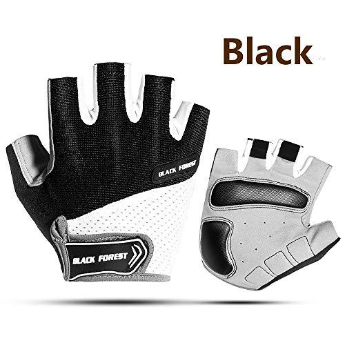 SunFlower Pro-Biker Fahrradhandschuhe, kurz, Leder, Motorrad- und Rennsport-Handschuhe, schwarz 1, m
