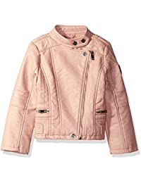 Urban Republic Big Girls' Ur Faux Leather Jacket, Rose Smoke 5805ARS