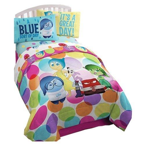 Disney Pixar Inside Out Dots Twin Bedding Sheet Set by Disney