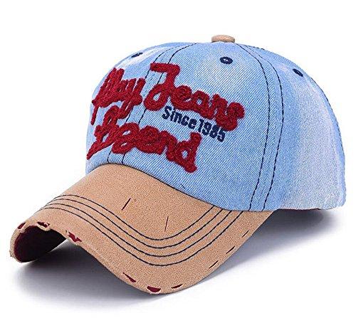 elwow deportes al aire libre tela vaquera Vintage gorra de béisbol 4cedd869e1c
