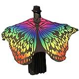 Zolimx Damen Weicher Gewebe Schmetterlings Flügel Schal, Nymphen Pixie Kostüm Zusatz (Gelb1)