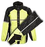 Herren Motorrad Wasserdicht reflektierendes Klebeband Durable Regen Gear in orange & grün (S, grün)