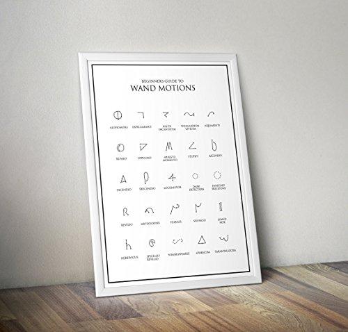 Harry Potter inspirierte Poster - Basic Wand Motions - Hogwarts - Zitat - Alternative TV / Movie...