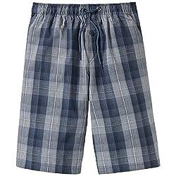 Schiesser Jungen Mix & Relax Longboxer Schlafanzughose, Blau (Jeansblau 816), 176 (Herstellergröße: L)