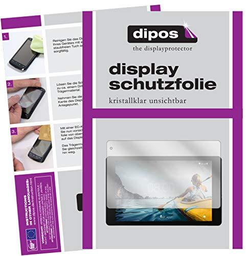 dipos I 2X Schutzfolie klar passend für Medion Lifetab P10612 Folie Bildschirmschutzfolie