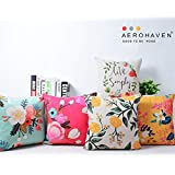 AEROHAVEN Set of 5 Designer Decorative Throw Pillow/Cushion Covers - CC122 - (16 inch x 16 inch, Multicolour)