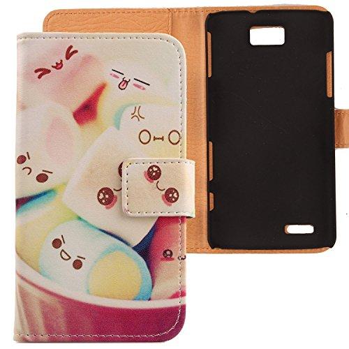 Lankashi PU Flip Leder Tasche ZTE Grand Memo V9815 N5 Lovely