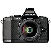 Olympus OM-D EM-5 Micro Four Thirds Interchangeable Lens Camera - Black (16.1MP, Live MOS, M.Zuiko 12-50mm Lens) 3.0 inch OLED