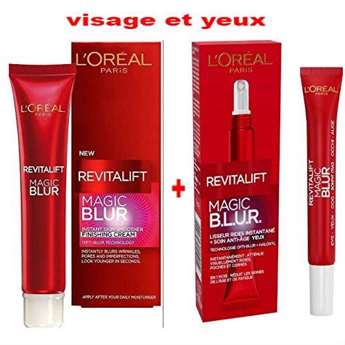 L 'Oréal Paris Pack 2Produkte Revitalift: 1Glätteisen Falten Snapshot Magic Blur revitalift- Pflege Finish + 1L 'Oréal Paris Revitalift Magic b.l.u.r Pflege Augen Aging Glätteisen Falten Snapshot 3040Jahre