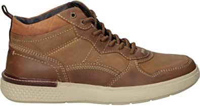 Wrangler Mens Discovery Mid Trainers Tan