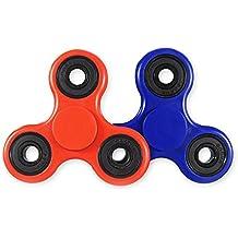 MCHSHOP 2 PCS Tri-Spinner Fidget réducteur de stress de jouet avec Premium Hybrid Céramique Bearing mains Fidget Spinner Toy parfait pour ADD, ADHD, l'anxiété et l'autisme Enfants adultes