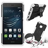 Huawei P9 LITE 2016 4G/LTE Silikon case weiß Shockproof Cover - Zubehör Etui Huawei P9 LITE Dual Sim Schutzhülle (Handytasche Weiss white) - XEPTIO accessories