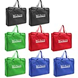 WOSON 8 Pcs Reusable Non Woven Supermarkt Einkaufstaschen Vlies Geschen Verpackung Taschen Shopper Bag mit Griff 40*30*10cm (Woven)