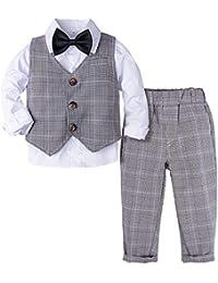 Taufanzug Baby Taufe Weste Hose Hemd festliche Kleidung Hochzeitsanzug 74-92