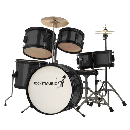 rocket-dkj02bk-5-piece-junior-drum-kit-black