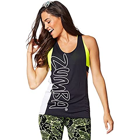 Zumba Fitness Tied Up - Camiseta sin mangas para mujer, color negro, talla XL