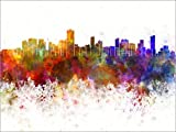 Posterlounge Forex-Platte 130 x 100 cm: Salvador da Bahia Skyline von Editors Choice