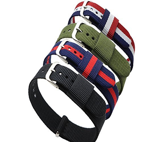 ritche-4pc-20mm-nylon-striped-blue-redblue-white-redblack-army-green-replacement-watch-strap-band