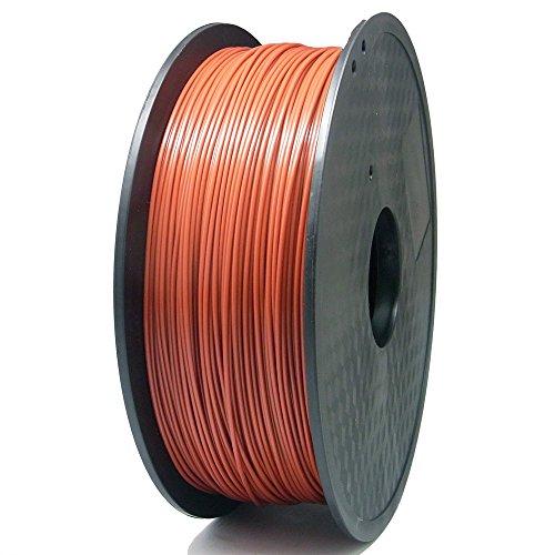 SIENOC 1 Packung 3D Drucker PLA 1.75mm Printer Filament - Mit Spule 1kg (Braun)